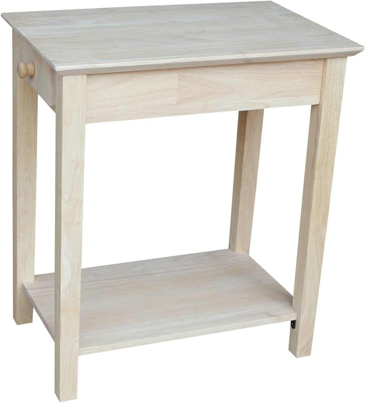 International Concepts OT-2214 Narrow End Table, Unfinished