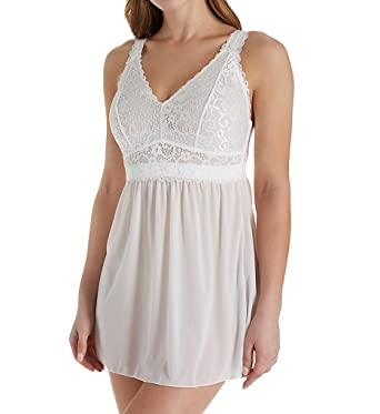 83bae158d6 Parfait P5488 Women s Adriana Pearl White Lace Non-Wired Chemise Slip  Sleepwear Babydoll 30D