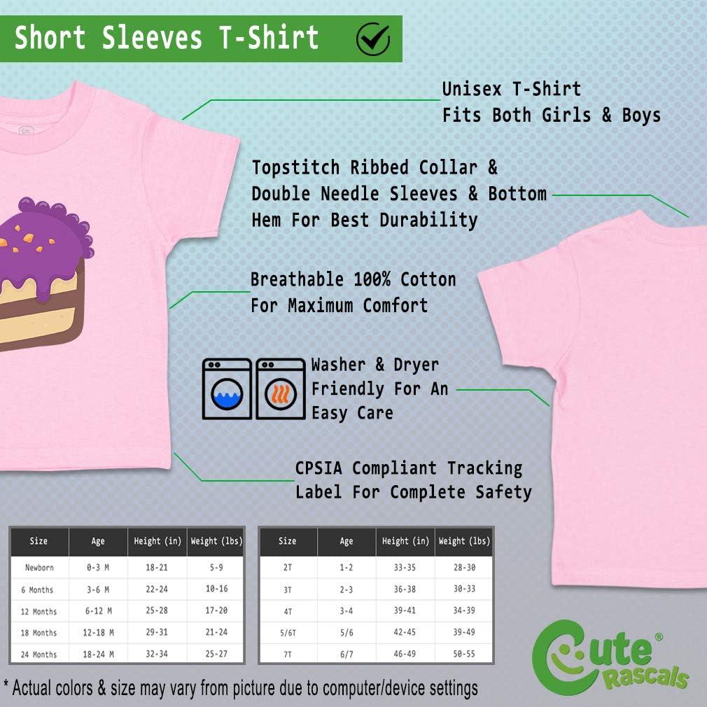 Custom Baby /& Toddler T-Shirt Chocolate Purple Cake Cotton Boy Girl Clothes