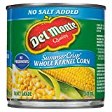 Del Monte No Salt Added Summer Crisp Whole Kernel Corn, 341 ml, Pack of 12