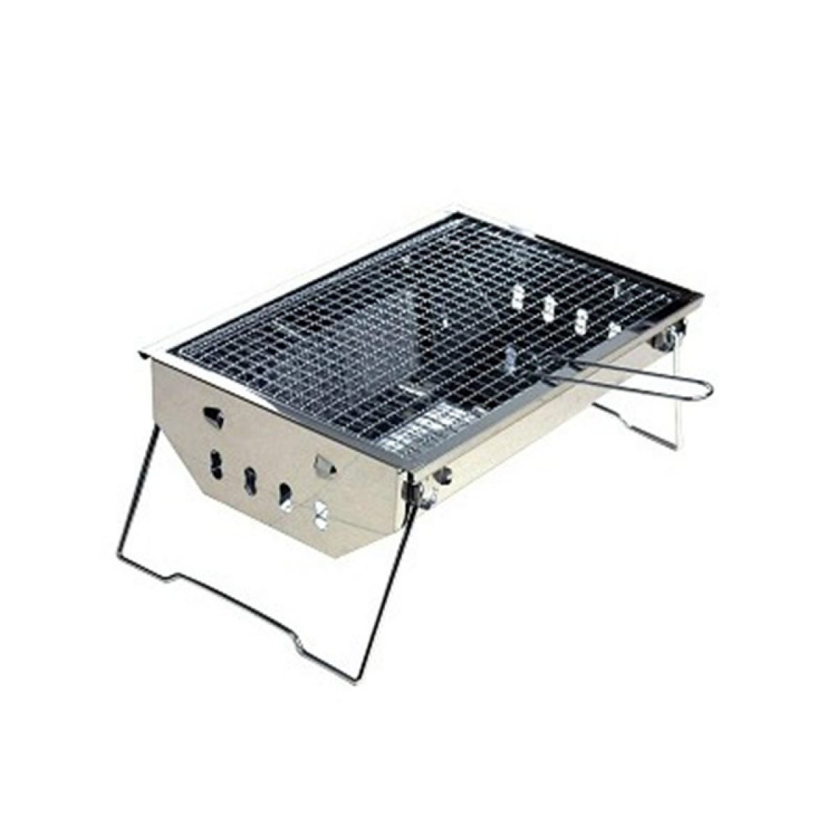 Edelstahl Barbecue Pits Outdoor Portable Holzkohle Öfen Verdickte Faltbar Barbecue Grill Outdoor Holzkohle Ofen Thick Grill