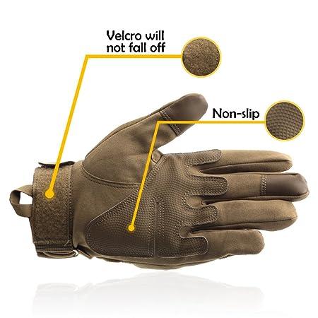 c77f0449b033 gants tactiles homme amazon,Vbiger Gants Tactiles Tricot茅s Velours PU Gants  Homme en Cuir ...