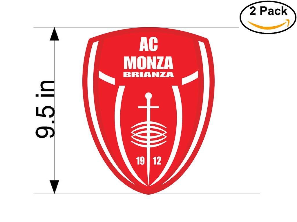 CanvasByLam AC Monza Brianza 1912 Italy Soccer Football Club FC 2 Stickers Car Bumper Window Sticker Decal Huge 9.5 inches