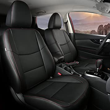 full set Leatherette black Car seat covers fit Nissan Qashqai 2006-2013