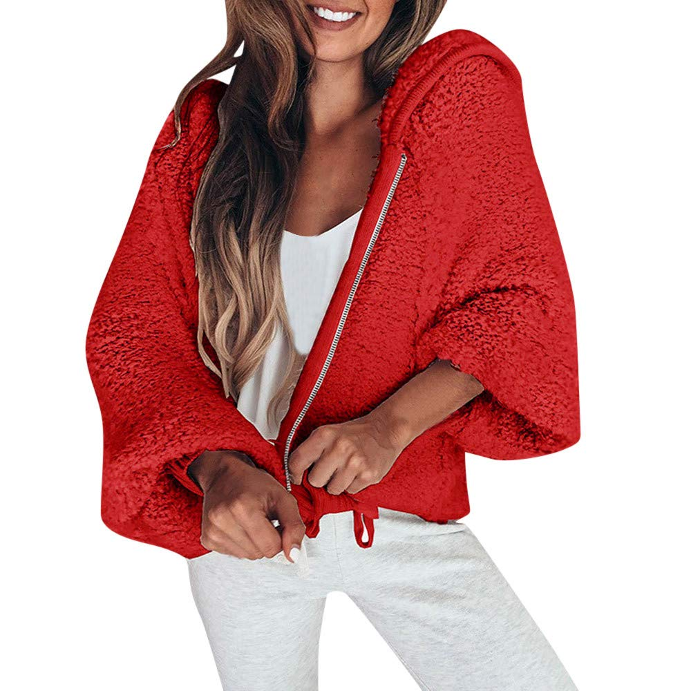 HYIRI Crazy Promotion Women Hooded Zipper Pullover Blouse Shirts Coat Sweatshirt