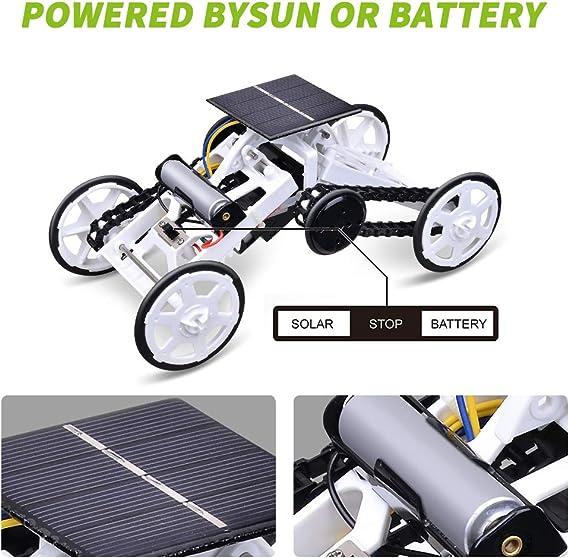 Achort Asamblea Bricolaje Energía Solar 4WD Coche Escalada Espacial, Experimento Científico Stem/Juguetes Educativos Regalos para Muchachas Niños 3 ...