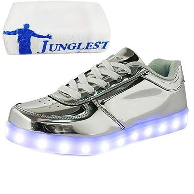 (Present:kleines Handtuch)Goldene EU 34, und schuhe Freizeitschuhe USB Erwachsene Sport JUNGLEST® Schuhe mode laufende Paare LED Aufladen Leuchtend Unisex Leucht Her