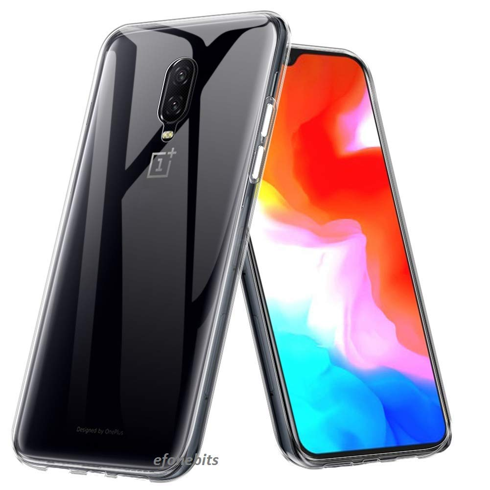 outlet store dbb11 f9f33 Efonebits Clear Case Ultra Transparent Silicone Gel Cover for Oneplus 6t  and Oneplus 6t Mclaren Edition