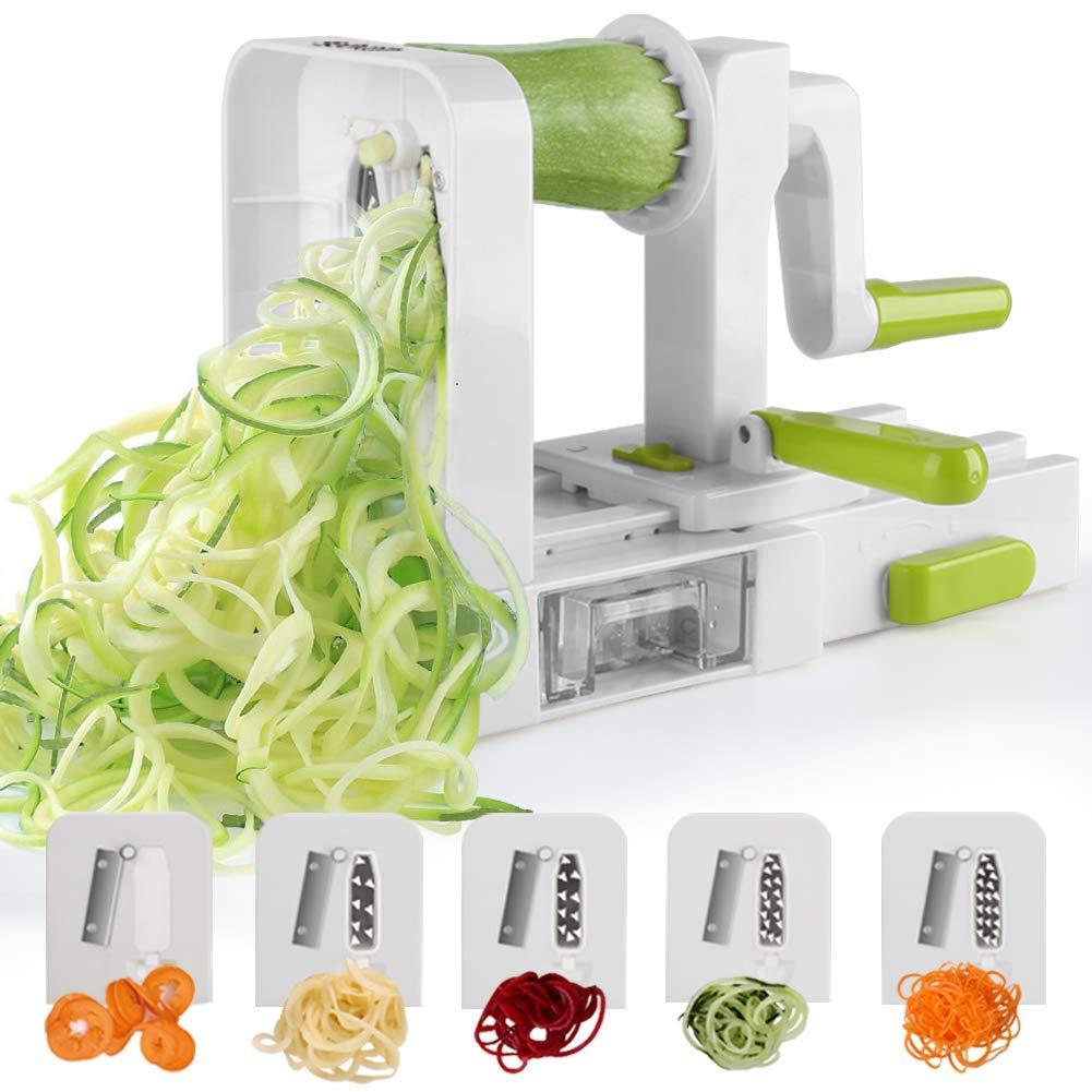 Spiralizer 5-Blade Vegetable Spiralizer,Sedhoom Foldable Spiral Slicer,Zucchini Noodle & Veggie Pasta & Spaghetti Maker for Low Carb/Paleo/Gluten-Free Meals Vegetable Spiralizer03