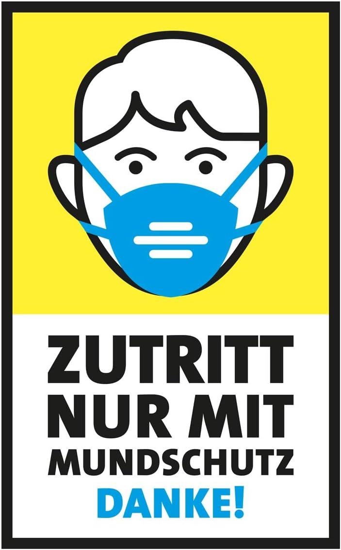 """Aufkleber #Corona /"""" Mundschutz /"""" 20cm Kleber Tür Fenster Schutz MaskenPflicht !"""
