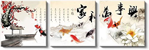NWT Canvas Wall Art Chinese Flowers and Birds Painting Artwork