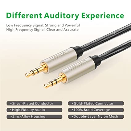 (40ft/12m) 3.5mm Male to Male Auxiliary Aux Stereo Professional HiFi Cable