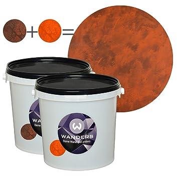 Wandfarbe Rost wanders24 rost optik 6 liter komplett set wandfarbe rost