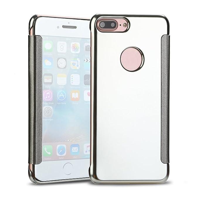 ESCLUSIVO CUSTODIA VERA pelle Custodia Flip Cover per Iphone 7 8 x