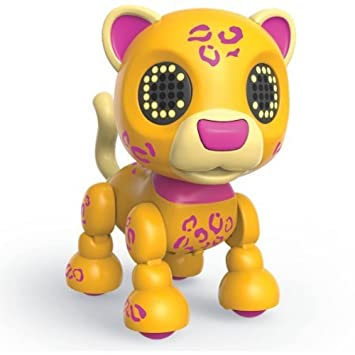 Zoomer Zupps Safari, Sprinter Interactive Cheetah with Lights, Sounds and Sensors