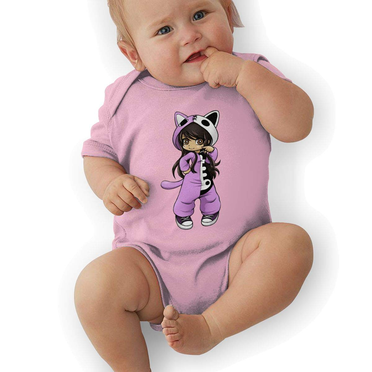 Toddler Baby Boys Bodysuit Short-Sleeve Onesie Girl Wear Pajamas Like A Cat Print Jumpsuit Spring Pajamas