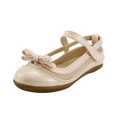 Amazon.com: Mary Jane Zapatos De Vestido Para Niña Ballet ...