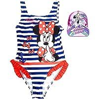 Pack Especial Bañador Minnie Mouse para niñas + Gorra con Visera Unicornio, Ideal para Playa o Piscina. Nueva Temporada…