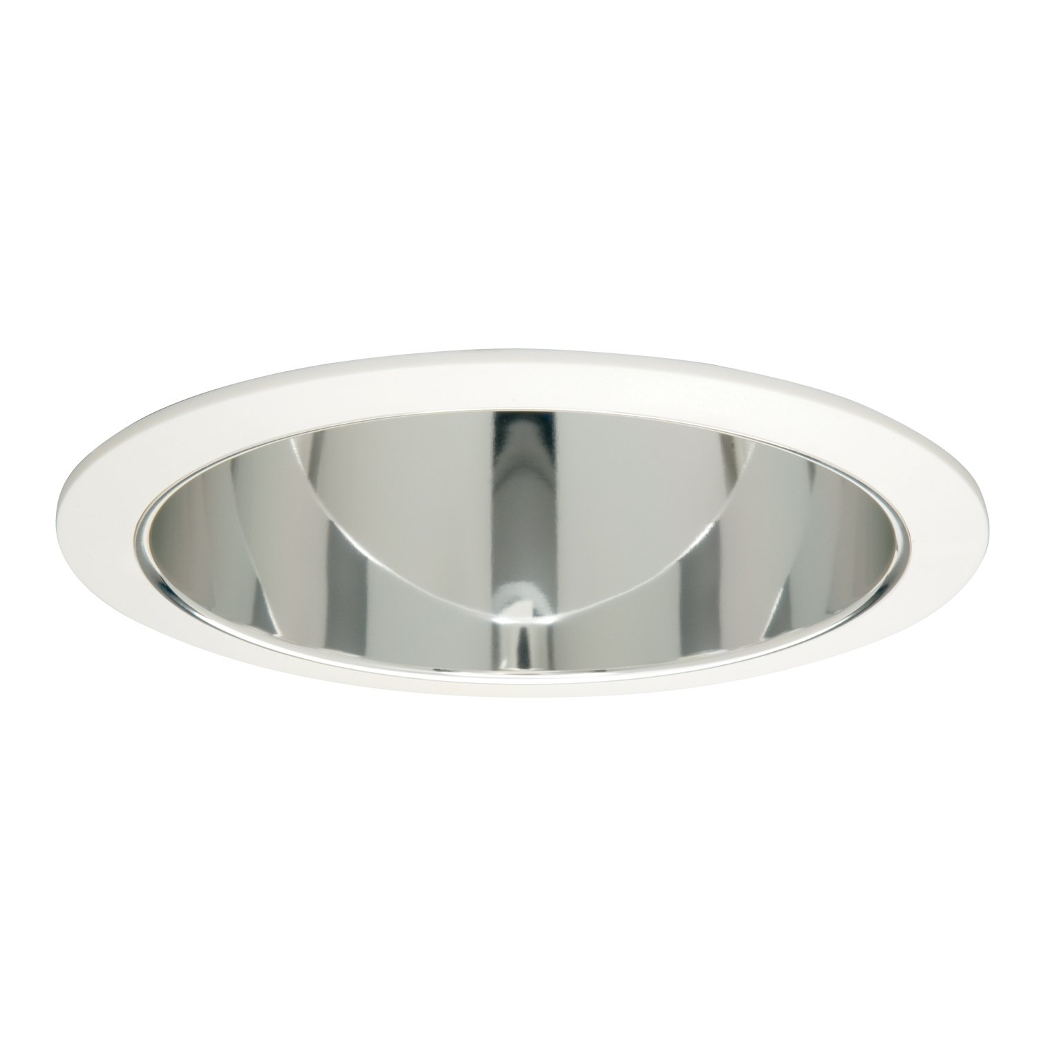 White Baffle with White Reflector EATON Lighting 406WWB 6-Inch Baffle Trim with Reflector