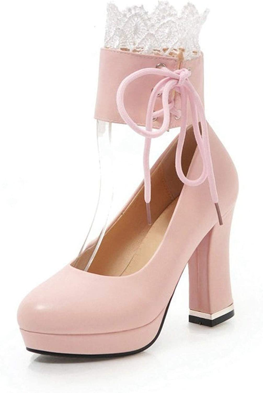 | Women Pumps Chunky Block High Heel Platform
