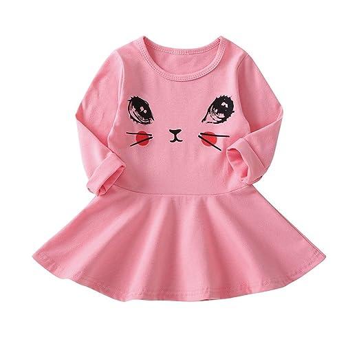 89eb26f40 Amazon.com  Yamally 12M-5 Years Infant Toddler Baby Girls Dress Eyes ...