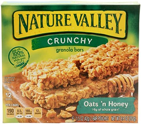 Nature Valley Oats 'n Honey Granola Bars 8.94 oz