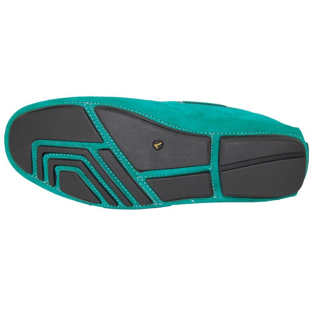 KRAZY SHOE ARTISTS Eagles Green Men's Loafers, Size 10