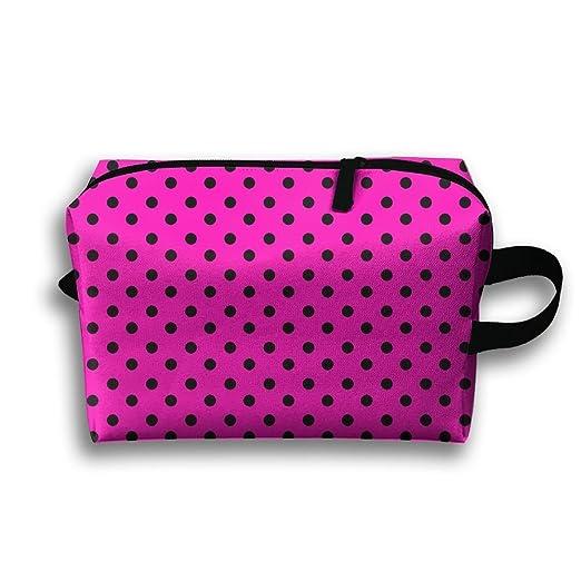 3aec3fa41413 Amazon.com: Black Point Pink Cosmetic Bags Makeup Organizer Bag Pouch  Zipper Purse Handbag Clutch Bag: Clothing