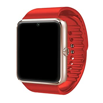 nicerio GT08 Bluetooth Smartwatch Reloj Inteligente con ranura para tarjeta SIM y 2.0 MP cámara para