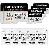 Gigastone 8GB 5-Pack MLC Micro SD Card, 10x High Endurance Full HD Video Recording, Security Cam, Dash Cam, Surveillance Comp