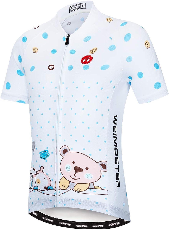Weimostar Children Boys Girls Cycling Jersey Set Short Sleeve 3D Padded Shorts Breathable