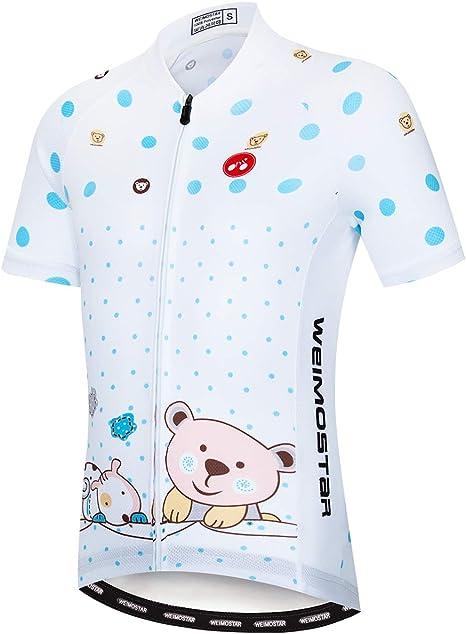 Weimostar Cyling Jersey Set Youth Kids Boys Girls Reflective Bike Shirt Dog