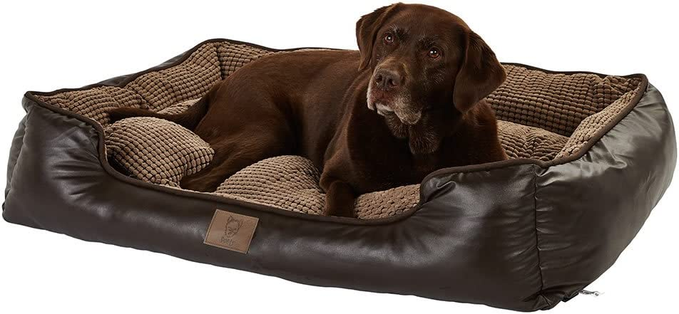 Faux Leather Dog Bed