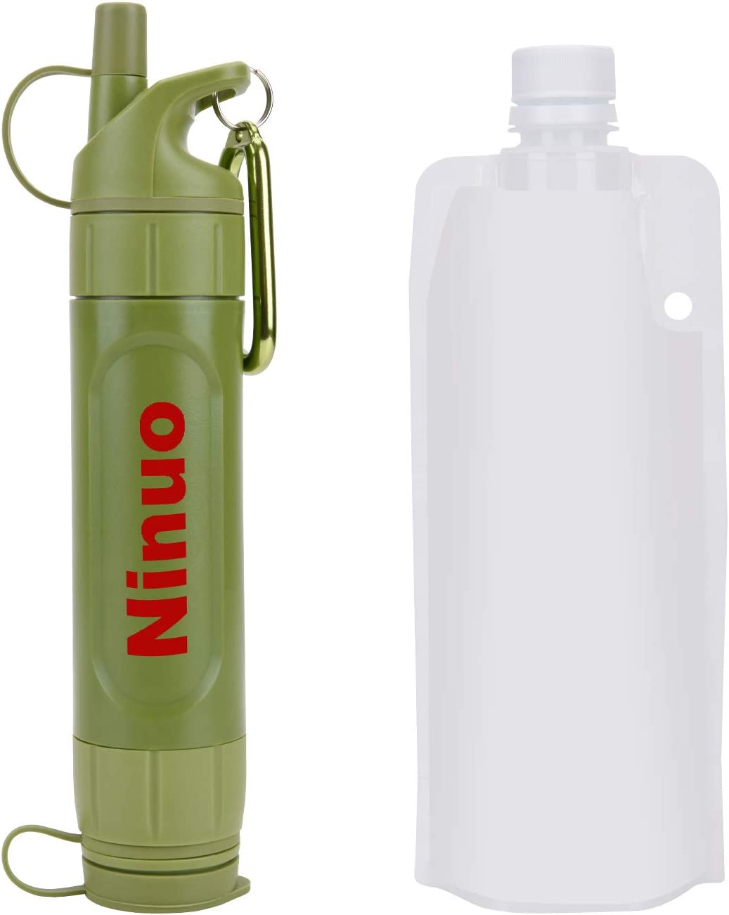 2Pack Lifestraw Personal Portable Water Filter Bottle Purifier Hiking Camping