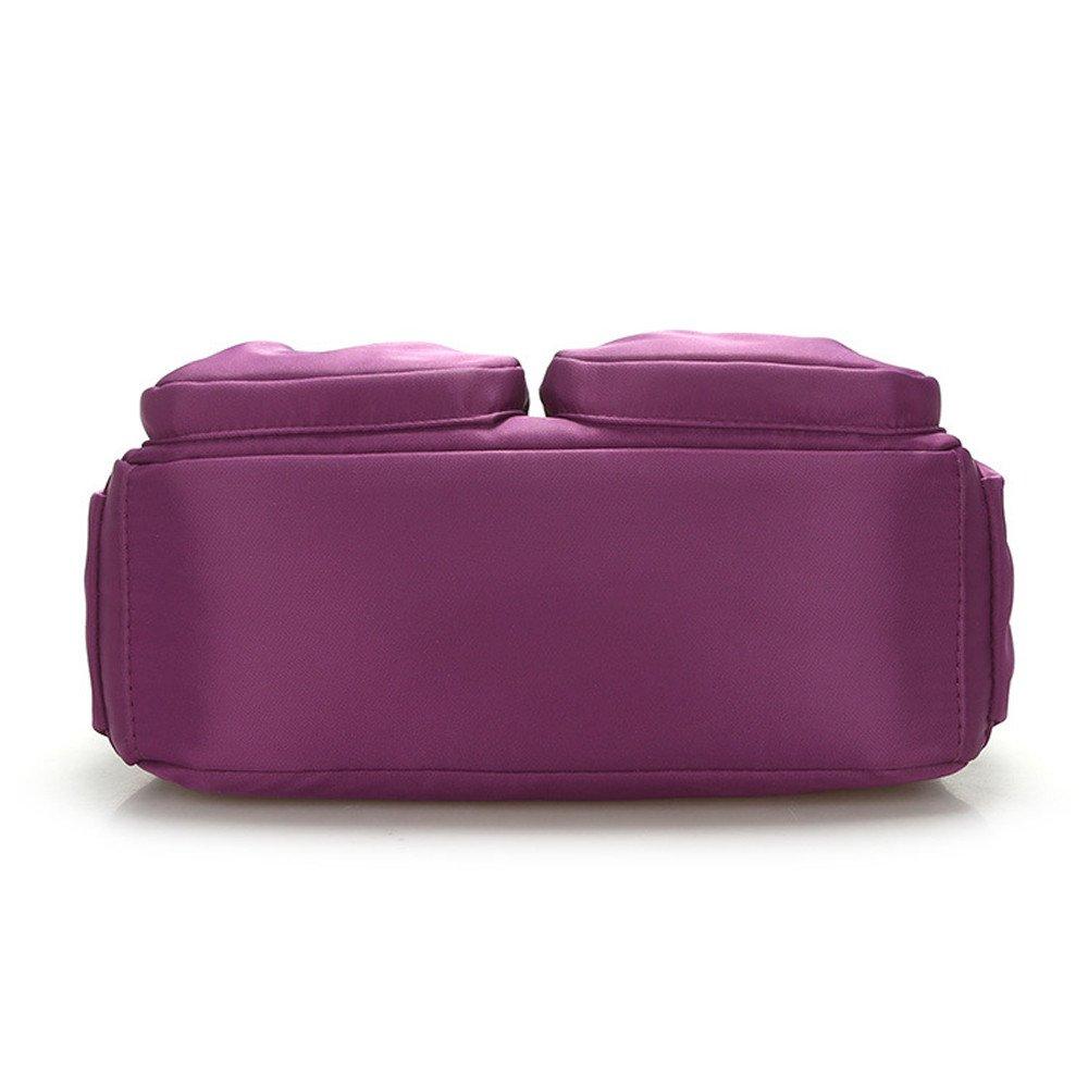 Clearance Sale Women Crossbody Bag Nylon, Fashion Solid [ Zipper Waterproof Shoulder Bag ] (Purple) by Vanvler Backpack (Image #4)