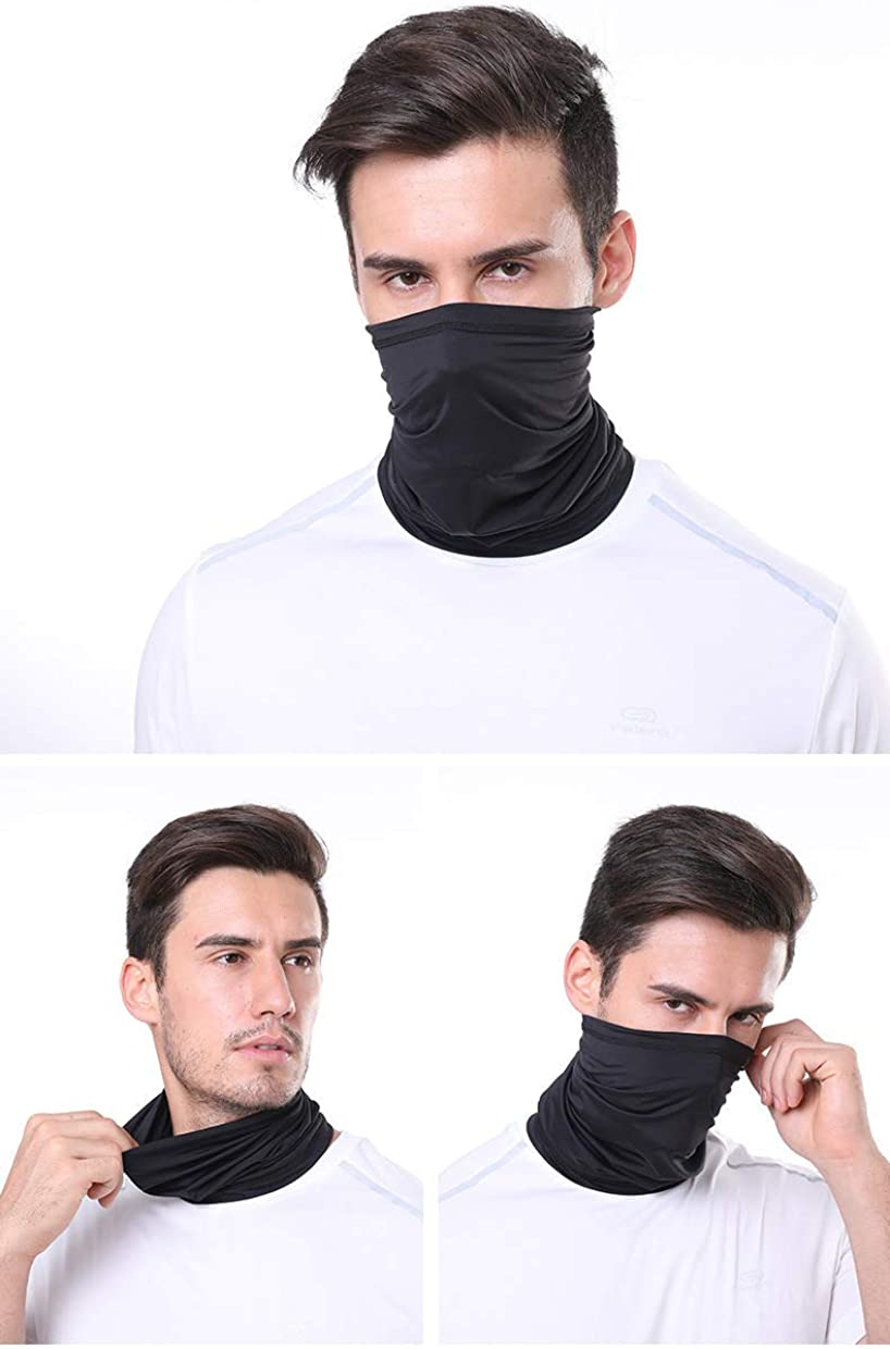Face Mask Bandana Cooling Neck Gaiter Upgraded Summer Breathable UV Dust Protection Balaclava for Outdoor Sports