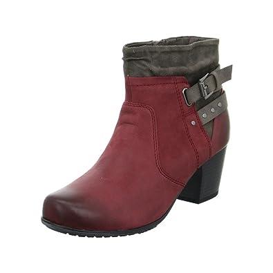 timeless design bb994 e5c2e Jana Stiefelette Rot: Amazon.fr: Chaussures et Sacs
