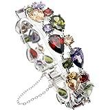 Valenetine's Jewelry Gifts Gemstones Sets Peridot Amethyst Garnet Morganite