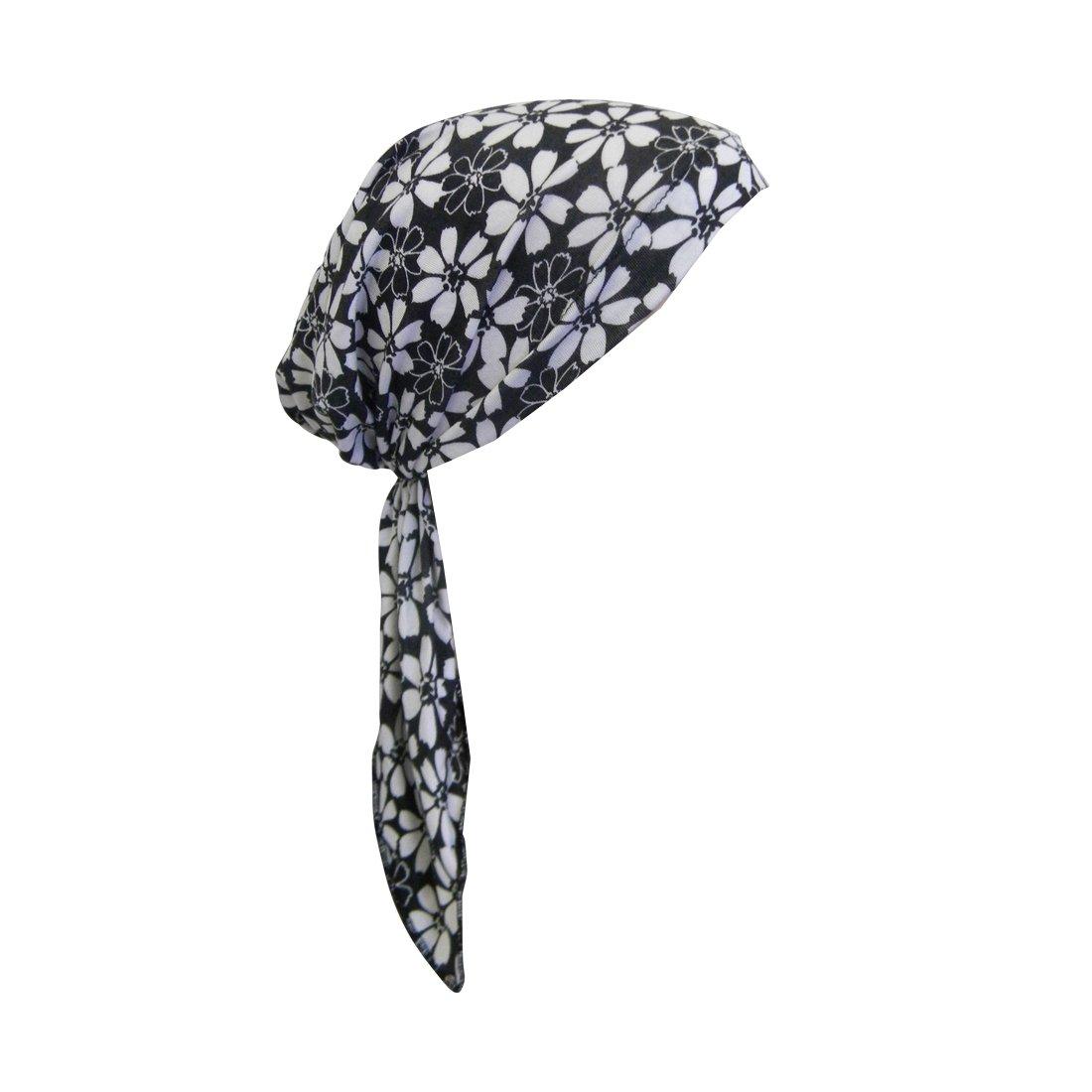 Purple Flowers Pretied Head Scarf Cancer Chemo Cap Printed Headcover Landana Headscarves ldpt-33