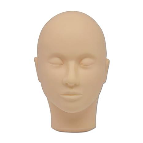 Pantalla Maniquí de peluquería cabeza Maquillaje de silicona Fashion hembra maniquí de la cabeza calva maniquí