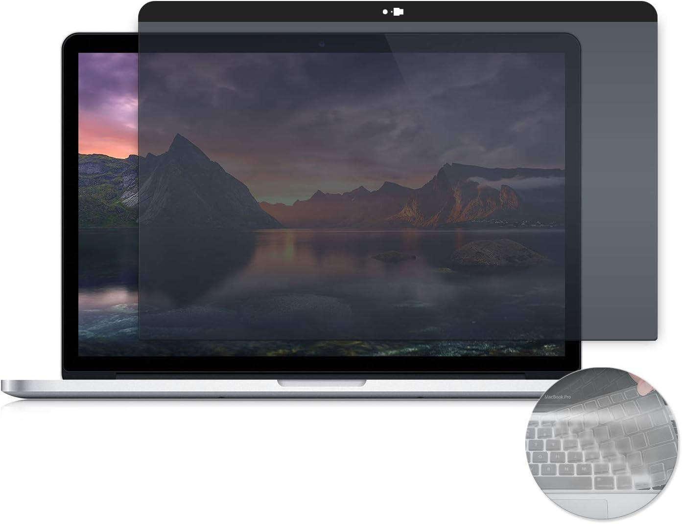 Adaptix MacBook Compatible Blue Light Screen Filter Protector 15 Magnetic Privacy Screen for MacBook Pro Anti-Glare Blocks 96/% UV Late 2012-2015 AMSMR15 Anti-Scratch