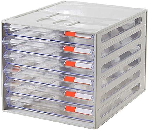 Archivadores Organizador 6 cajones de plástico A4 Almacenamiento de Archivos de Datos Caja de Almacenamiento de 26 x 34 x 24 cm Artículos de Oficina: Amazon.es: Hogar