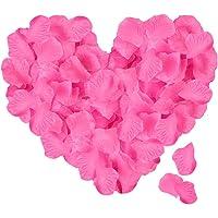 ASANMU 3000 Stück Rosenblätter, Rosenblüten Rosenblätter Rosen Blätter Blüten Kunstblumen Seidenblumen für Hochzeit Deko, Valentinstag, Taufe, Geburtstag Party Dekoration, Romantische Atmosphäre