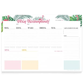 The Label Factory A3 Desk Mat Weekly Planner Pad Tasks To Do