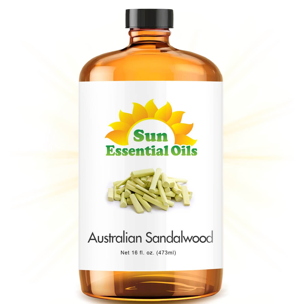 Bulk Sandalwood Oil - Ultra 16 Ounce - 100% Pure Essential Oil (Best 16 fl oz / 472ml) - Sun Essential