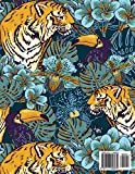 Weekly Planner 2018-2019: Two year planner for 2018 - 2019 including January 2018 - December 2019 (24 Month Calendar) Blue Safari Tropical Jungle