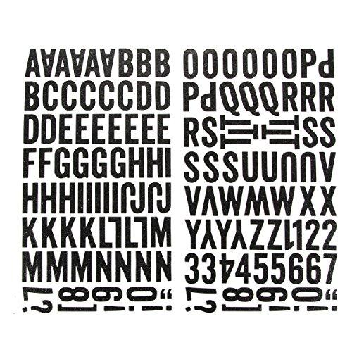 Darice 1219-39 143-Piece Glitter Alphabet Sticker, Upper Case Bold Font, Black