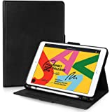 FYY iPad 10.2 Case 8th Gen (2020)/7th Gen (2019), iPad 10.2 2019 2020 Case with Pencil Holder Luxury Cowhide Genuine Leather
