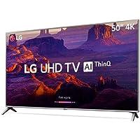 """Smart TV 4K 50"""", UHD, ThinQ AI, webOS 4.0, Design Slim, DTS Virtual X, Sound Sync, HDMI USB, LG, 50UK6510PSF"""