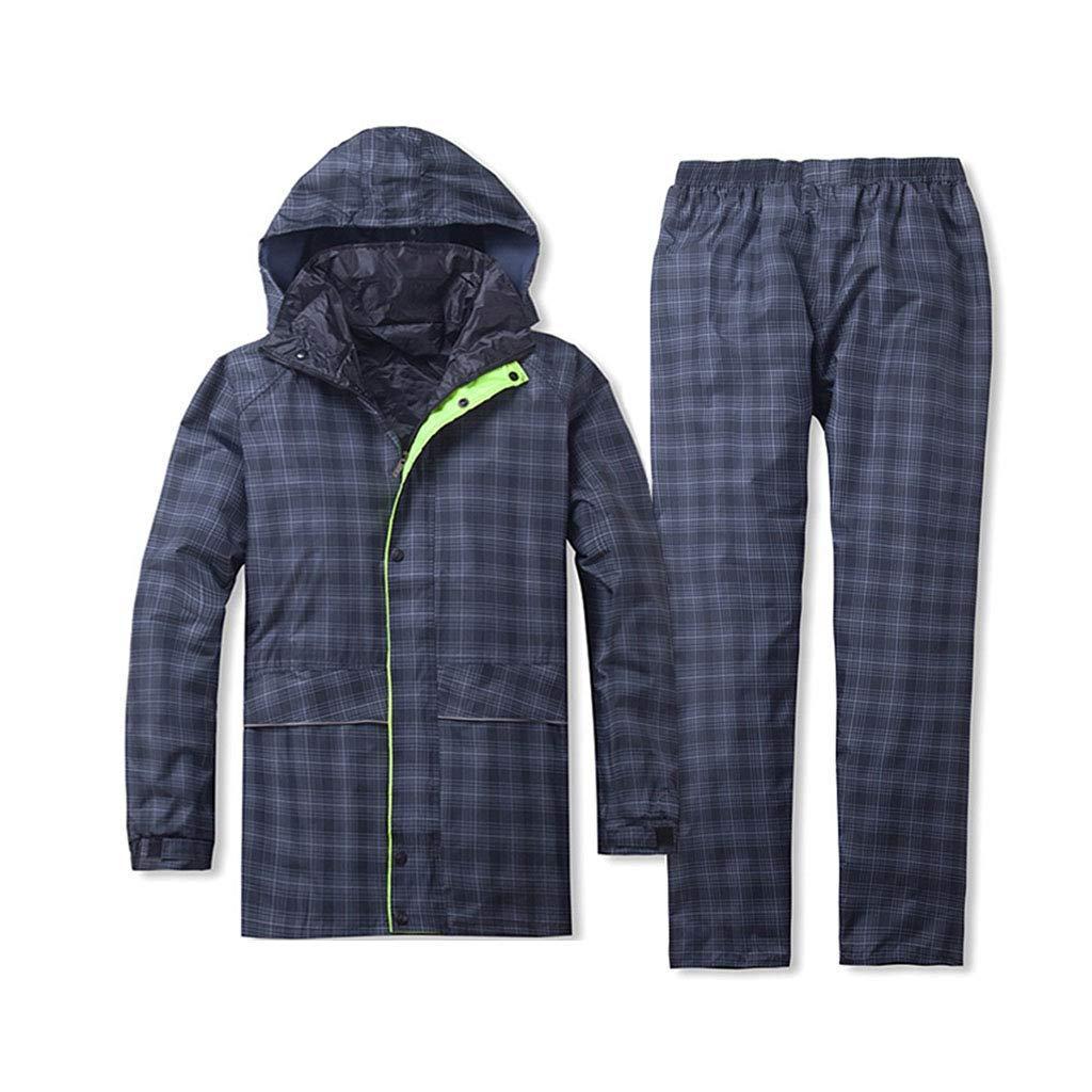 A 3XL Seba5 Home Un Pantalon de Pluie imperméable Fendu pour AugHommester Le vêteHommest de Pluie pour Le Poncho imperméable en Plein air (Couleur  Taille A  3XL) (Couleur   A, Taille   3XL)